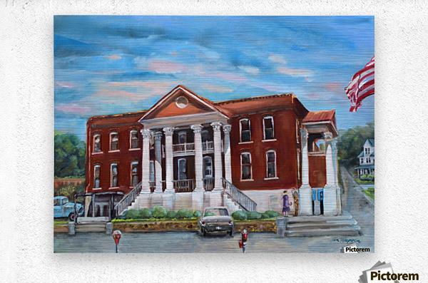 Old Courthouse Vivid  Metal print