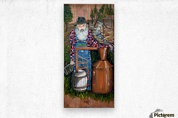 Popcorn Sutton - Moonshiner  Metal print