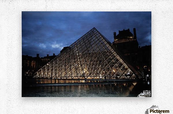 Le Louvre Pyramid  Metal print