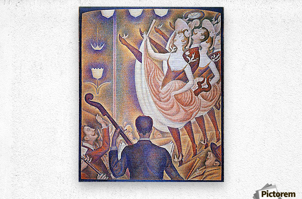 The big show by Seurat  Metal print