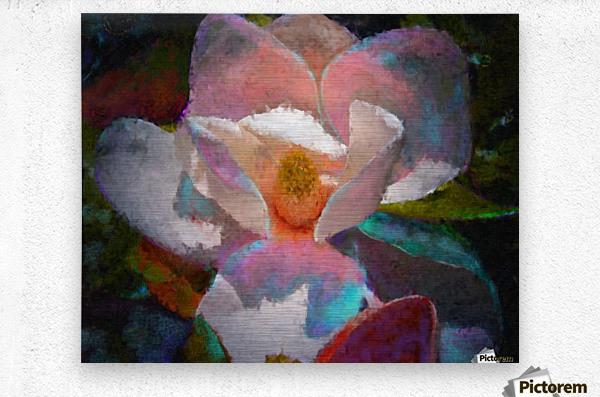 Magnolia Grandiflora Impression  Metal print