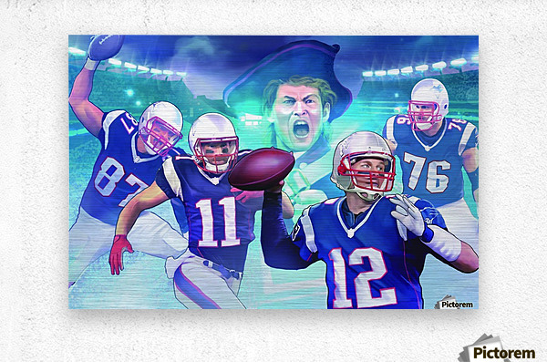 PATRIOTS Football  Metal print