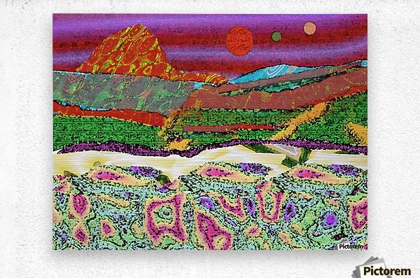Mountainscape 0625  Metal print