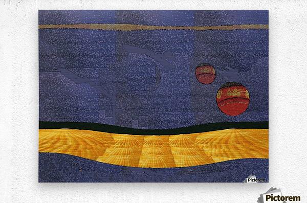 Two Moon Landscape 0628  Metal print