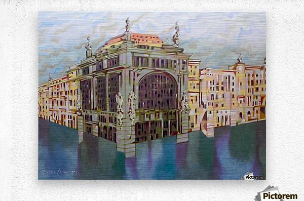 memory of Saint Peterburg, Nevskij Prospekt  Metal print