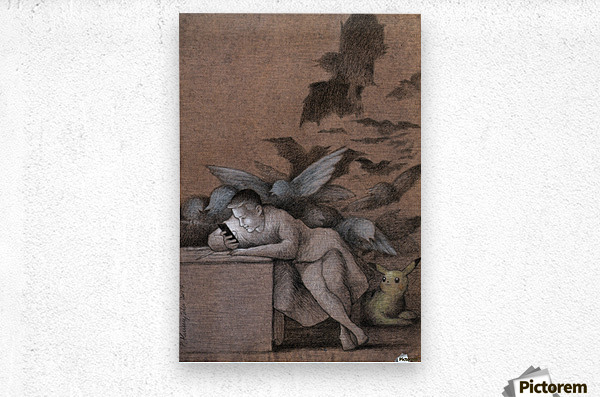 sleep of reason  Metal print