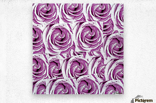 closeup pink rose texture pattern abstract background  Metal print