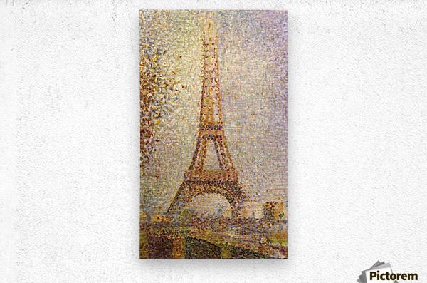The Eiffel Tower by Seurat  Metal print