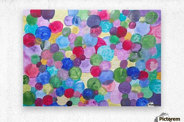 Colored Balls.  Metal print