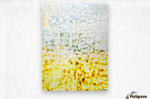 BURST - YELLOW & WHITE  Metal print