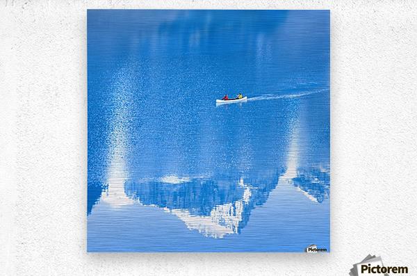 Icy blue   Metal print