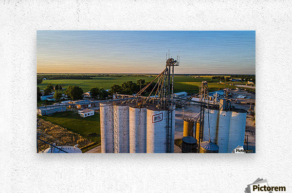 Schuyler County, IL FS Towers  Metal print