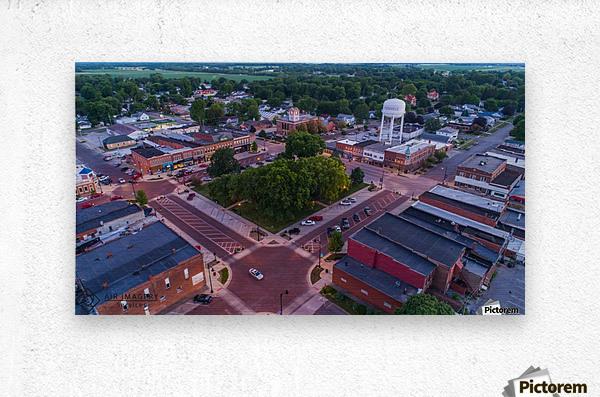 Rushville, IL Square  Metal print