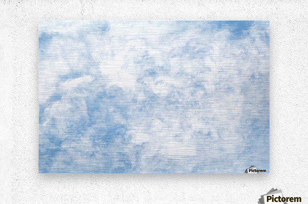 Wispy White Cloud.  Metal print