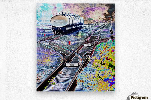Tanker Wagons.  Metal print