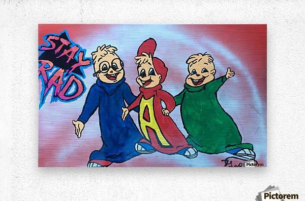 Stay Rad Alvin & The Chipmunks   Metal print