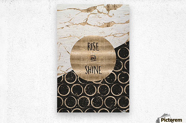 GRAPHIC ART Rise and shine  Metal print