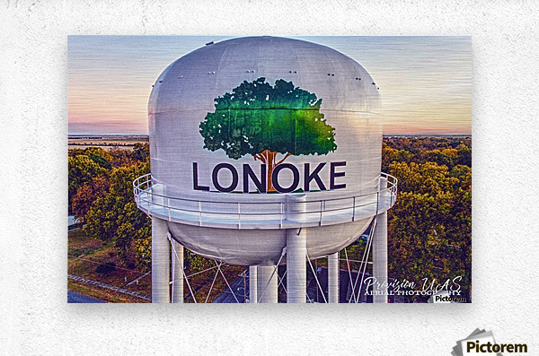 Lonoke, AR | Painted Water Tower 2017  Metal print