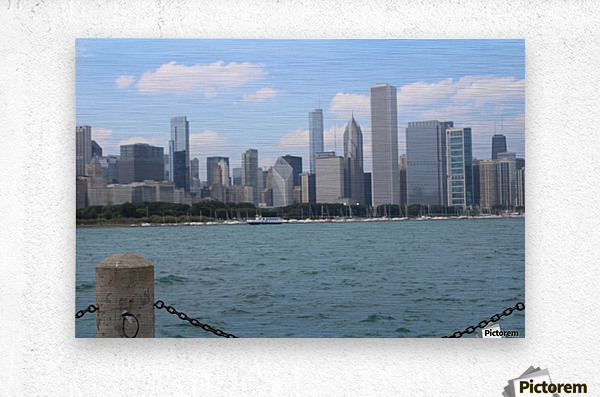 Chicago from the other side  Metal print