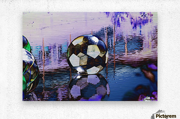 Large water ball.  Metal print