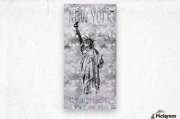 Graphic Art NEW YORK CITY Statue of Liberty  Metal print