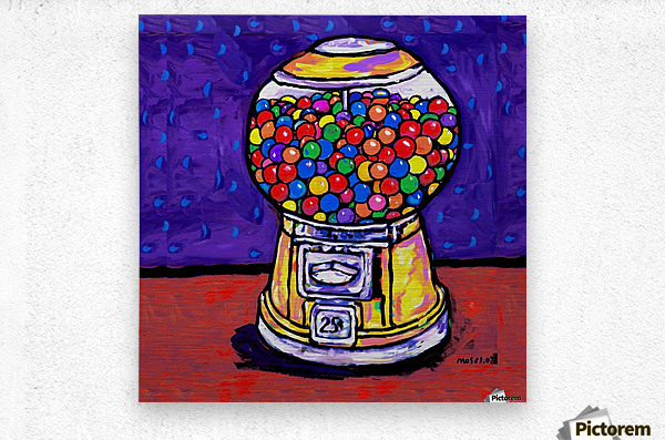 BUBBLE GUM MACHINE  Metal print