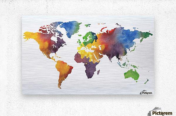 Colorful Map Of The World Watercolor - Irina Sztukowski Canvas