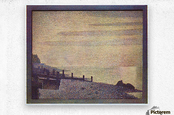 The mouth of the Seine at Honfleur, evening by Seurat  Metal print