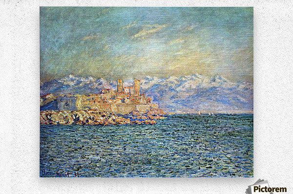 The old Fort in Antibes by Monet  Metal print