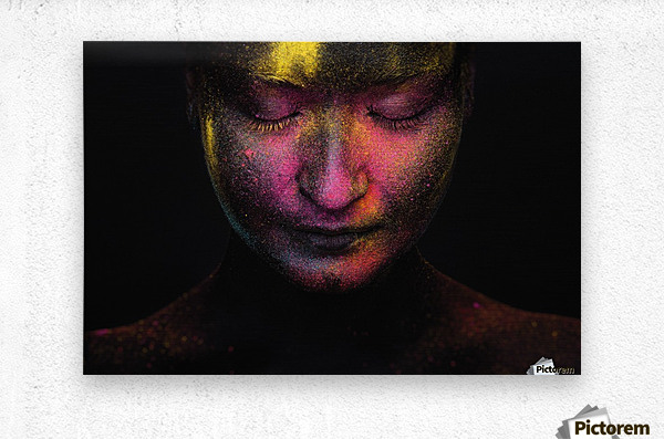 RGB feelings  Metal print