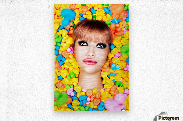 Duckfaceicon  Metal print