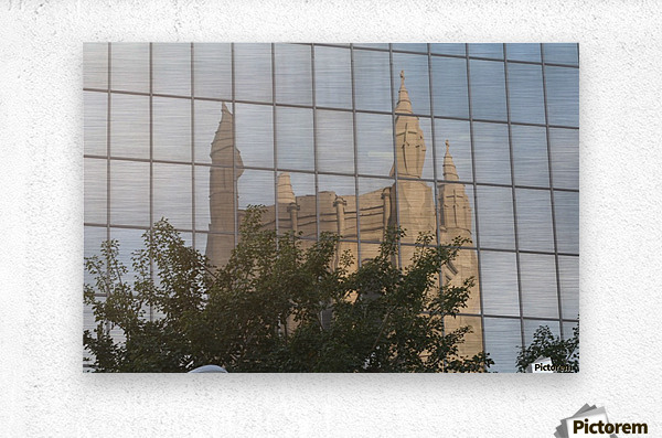 Reflection of Church Building  Metal print