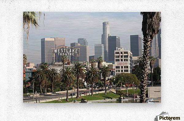 Westlake Theater to Los Angeles  Metal print