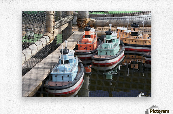 3 Toy Boats  Metal print