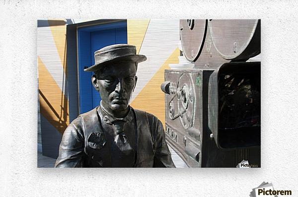 Buster Keaton Statue  Metal print