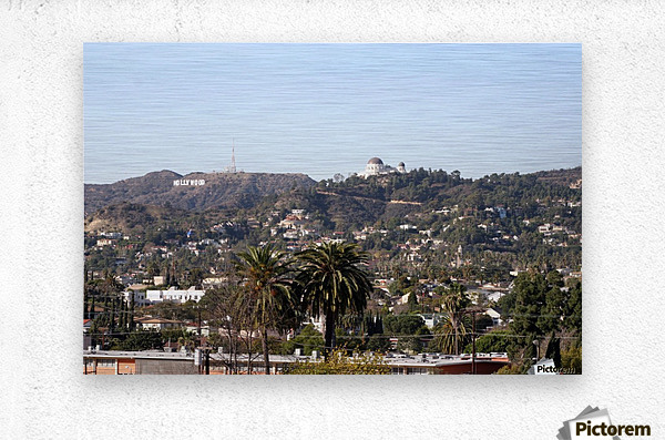 Hollywood Hills from Silver Lake  Metal print