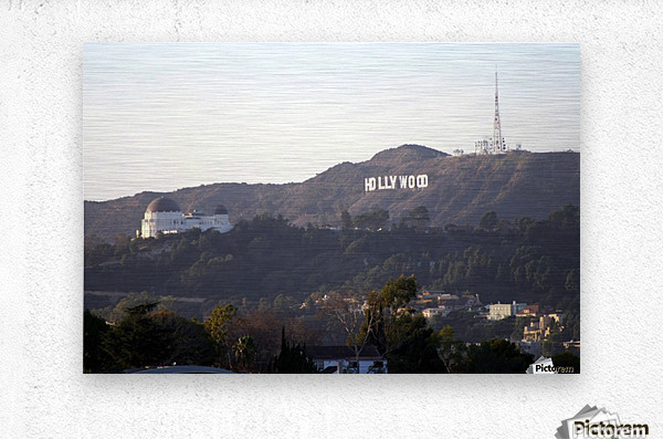 Hollywood Hills with Griffith Park Observatory  Metal print