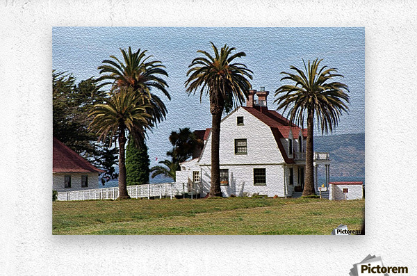 House at San Francisco Presidio Park  Metal print