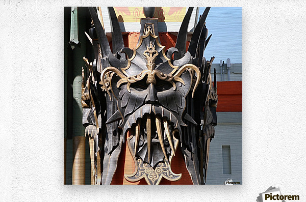 Mask at Grauman's Chinese Theater  Metal print