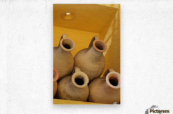 Four Stacked Jugs  Metal print
