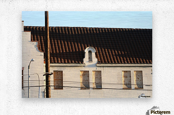 Old Building with Shadow  Metal print