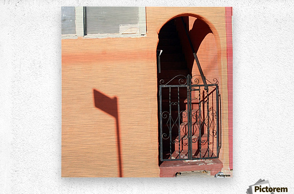 Arched Stairway with Gate  Metal print