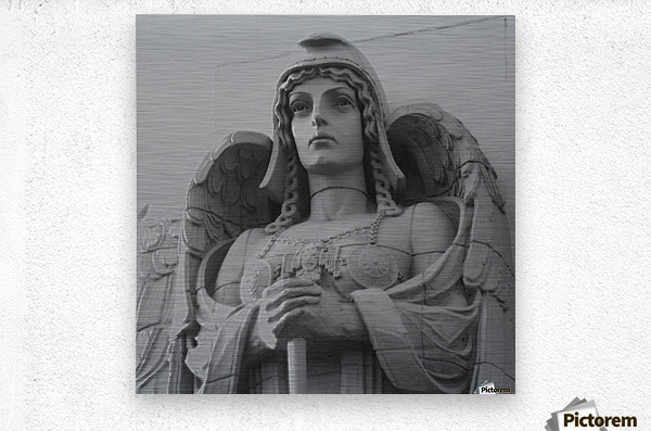Guardian Angel on Watch  Metal print
