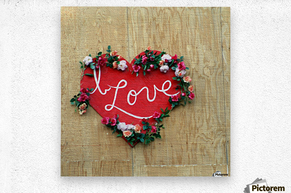 I love Heart - Square Canvas Print  Metal print