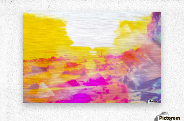 summer sunset at the beach with summer bokeh light abstract  Metal print