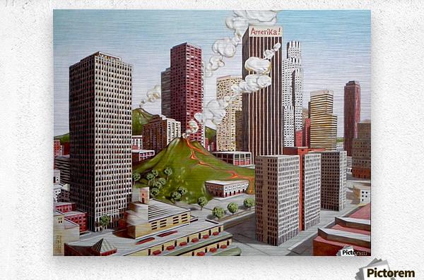 Volcano in Los Angeles  Metal print