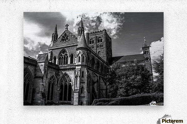 Cathedral   - Black and White image  Metal print