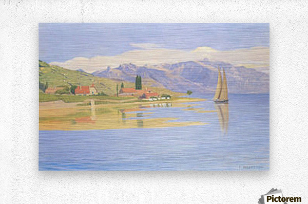 The port of Pully by Felix Vallotton  Metal print