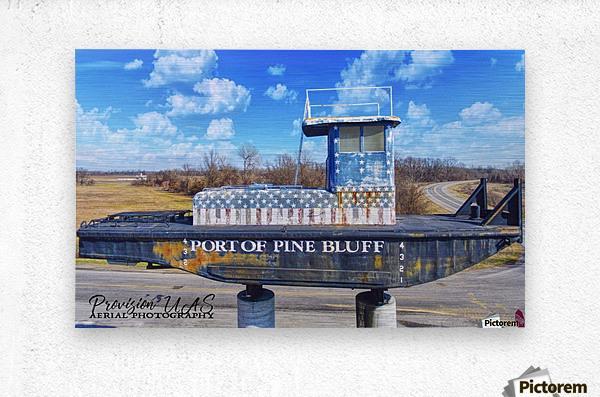 Pine Bluff, AR | Port Sign  Metal print