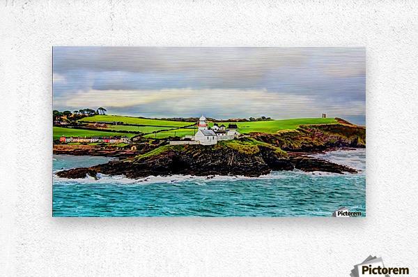 Lighthouse Cobh Ireland Paint effect  Metal print